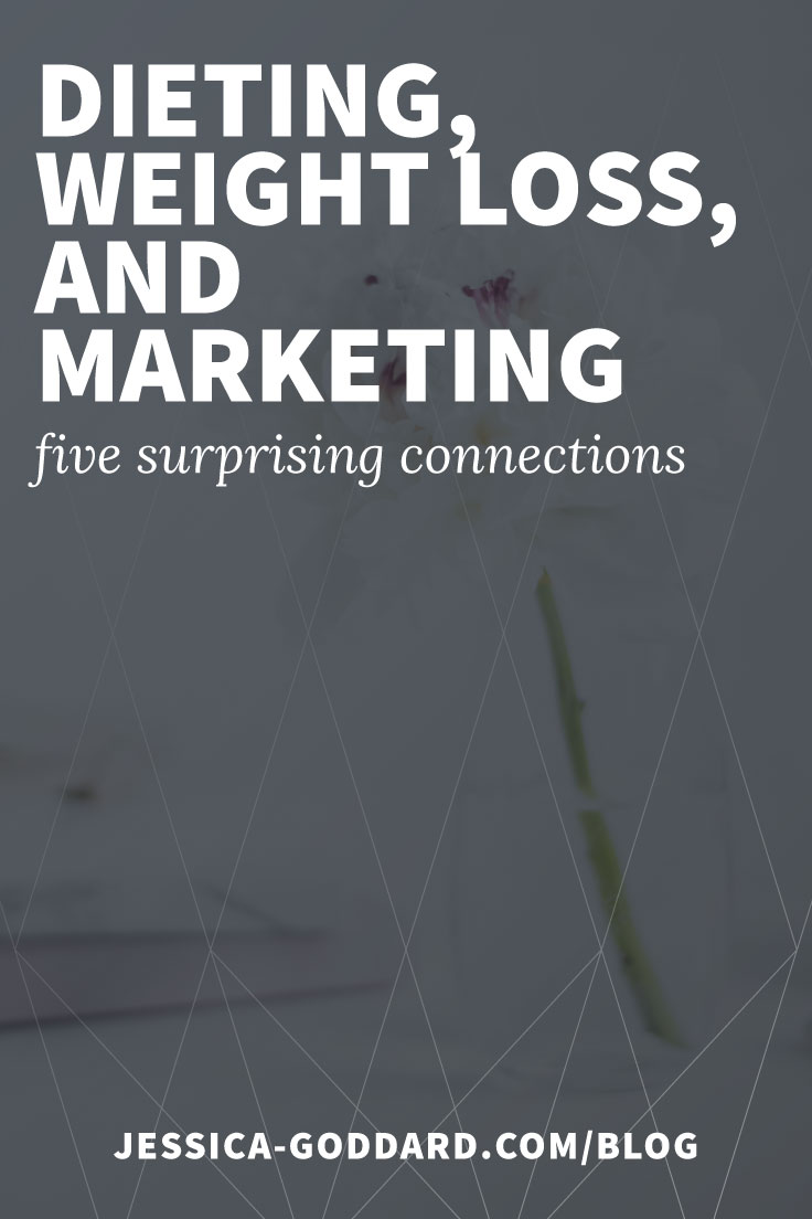Dieting, weight loss, and marketing - five surprising connections