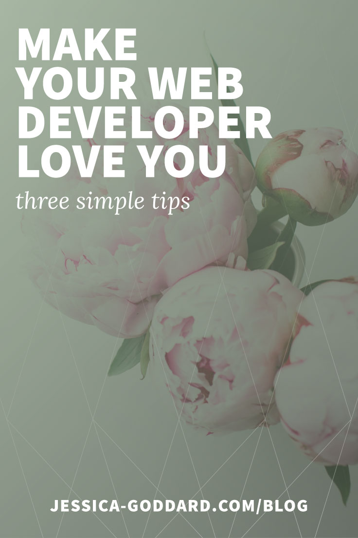 Make your web developer love you - three simple tips.